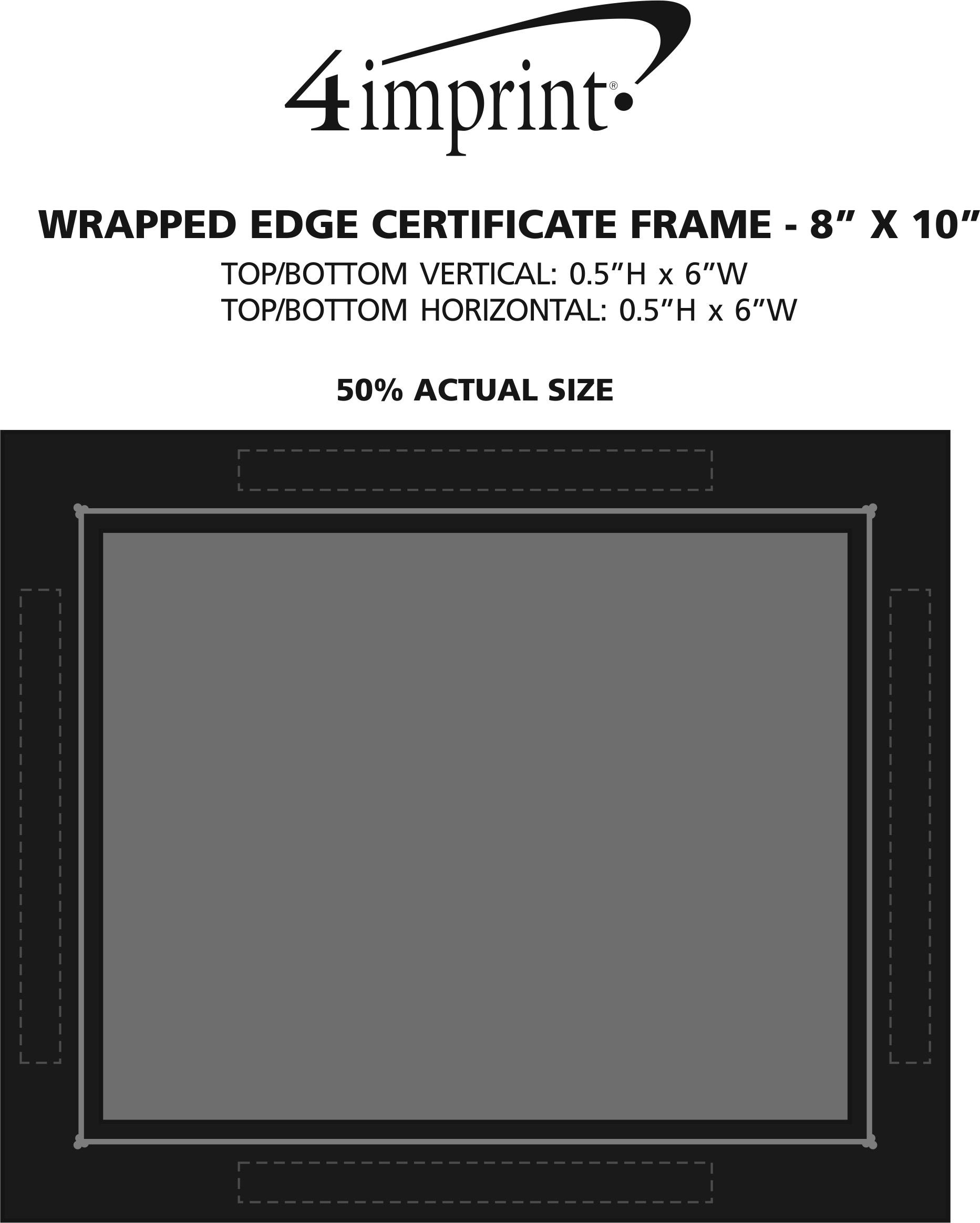 """Imprint Area of Wrapped Edge Certificate Frame - 8"""" x 10"""""""