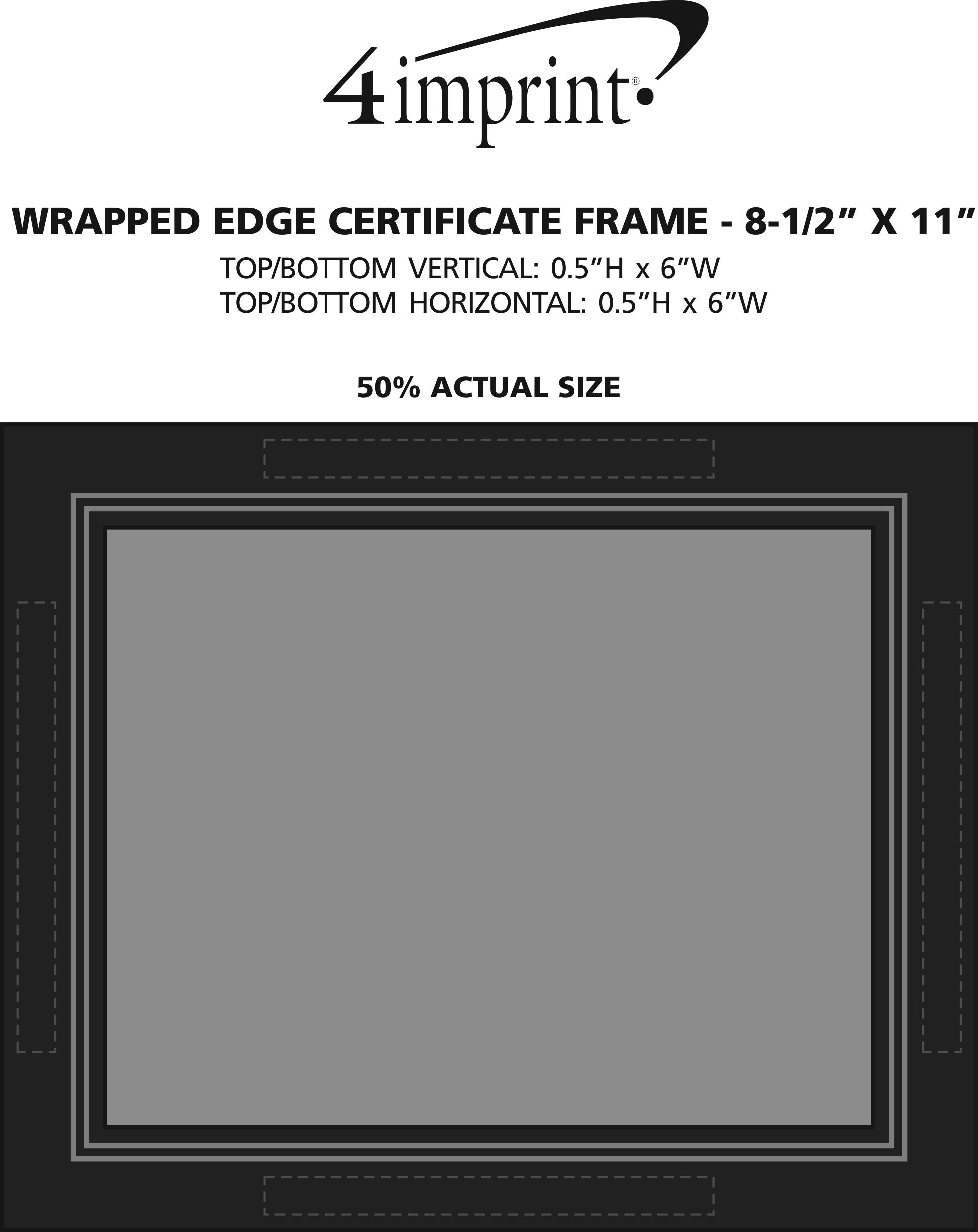 "Imprint Area of Wrapped Edge Certificate Frame - 8-1/2"" X 11"""