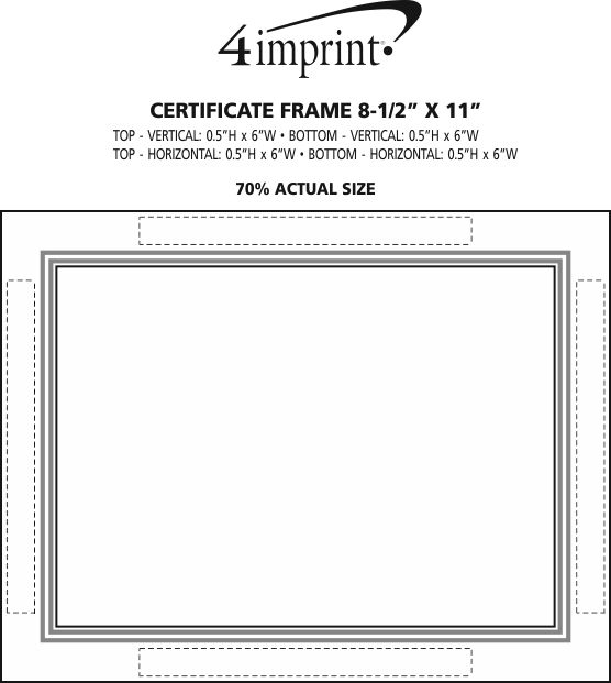 "Imprint Area of Certificate Frame - 8-1/2"" x 11"""