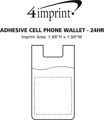 Imprint Area of Adhesive Cell Phone Wallet - 24 hr