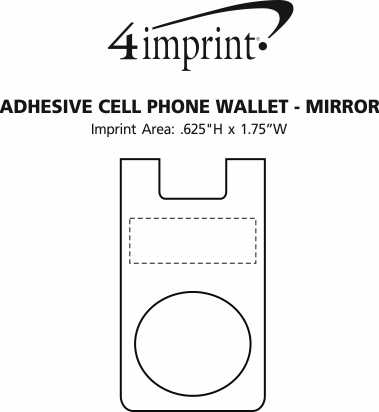 Imprint Area of Adhesive Cell Phone Wallet - Mirror