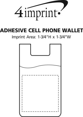 Imprint Area of Adhesive Cell Phone Wallet