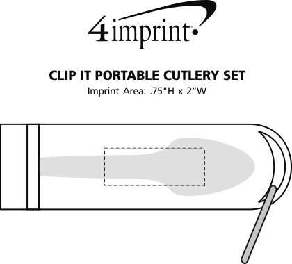 Imprint Area of Clip It Portable Cutlery Set
