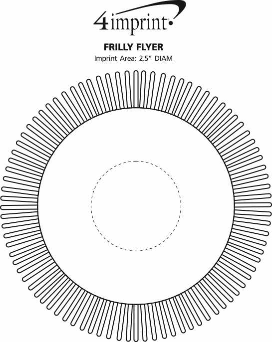 Imprint Area of Frilly Flyer