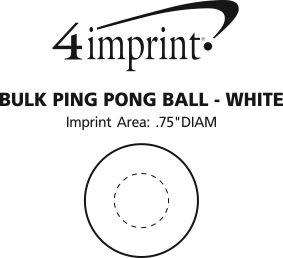 Imprint Area of Bulk Ping Pong Ball - White