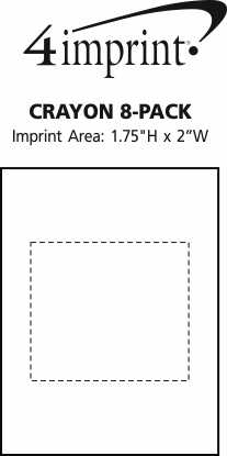 Imprint Area of Crayon 8-Pack