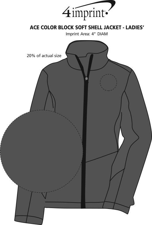 Imprint Area of Crossland Colorblock Soft Shell Jacket - Ladies'