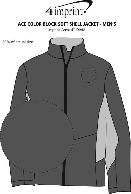Imprint Area of Crossland Colorblock Soft Shell Jacket - Men's