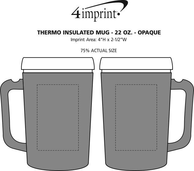 Imprint Area of Thermo Insulated Mug - 22 oz. - Opaque