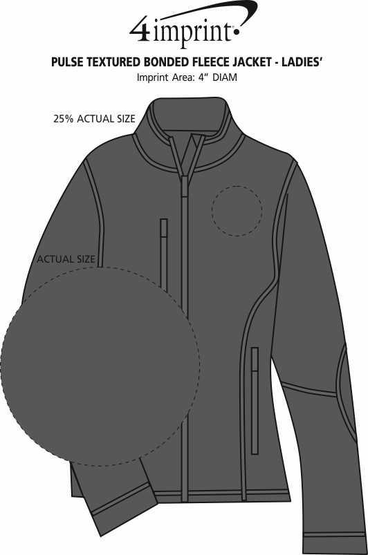 Imprint Area of Pulse Textured Bonded Fleece Jacket - Ladies'