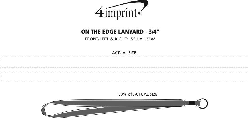 "Imprint Area of On the Edge Lanyard - 3/4"""