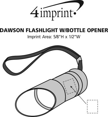 Imprint Area of Dawson Flashlight with Bottle Opener