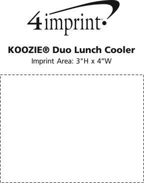 Imprint Area of Koozie® Duo Lunch Cooler