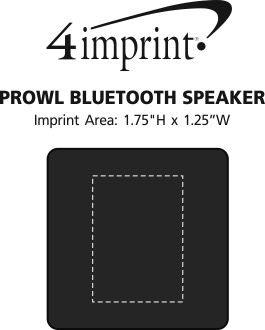 Imprint Area of Prowl Bluetooth Speaker