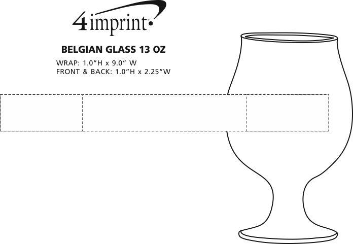 Imprint Area of Belgian Glass - 13 oz.