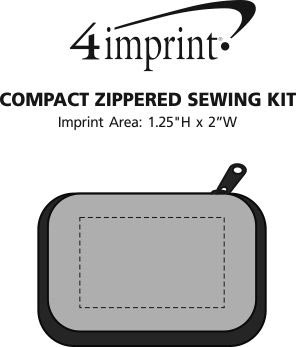 Imprint Area of Compact Zippered Sewing Kit