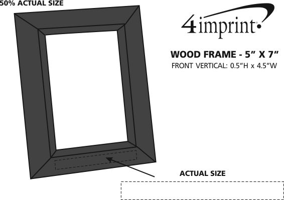 "Imprint Area of Wood Frame - 5"" x 7"""