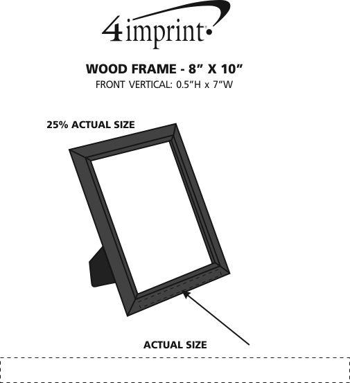 "Imprint Area of Wood Frame - 8"" x 10"""