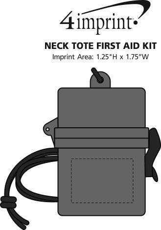 Imprint Area of Neck Tote First Aid Kit