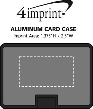 Imprint Area of Aluminum Card Case