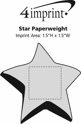 Imprint Area of Star Paperweight