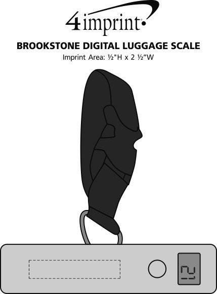 Imprint Area of Brookstone Digital Luggage Scale