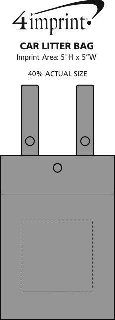 Imprint Area of Car Litter Bag