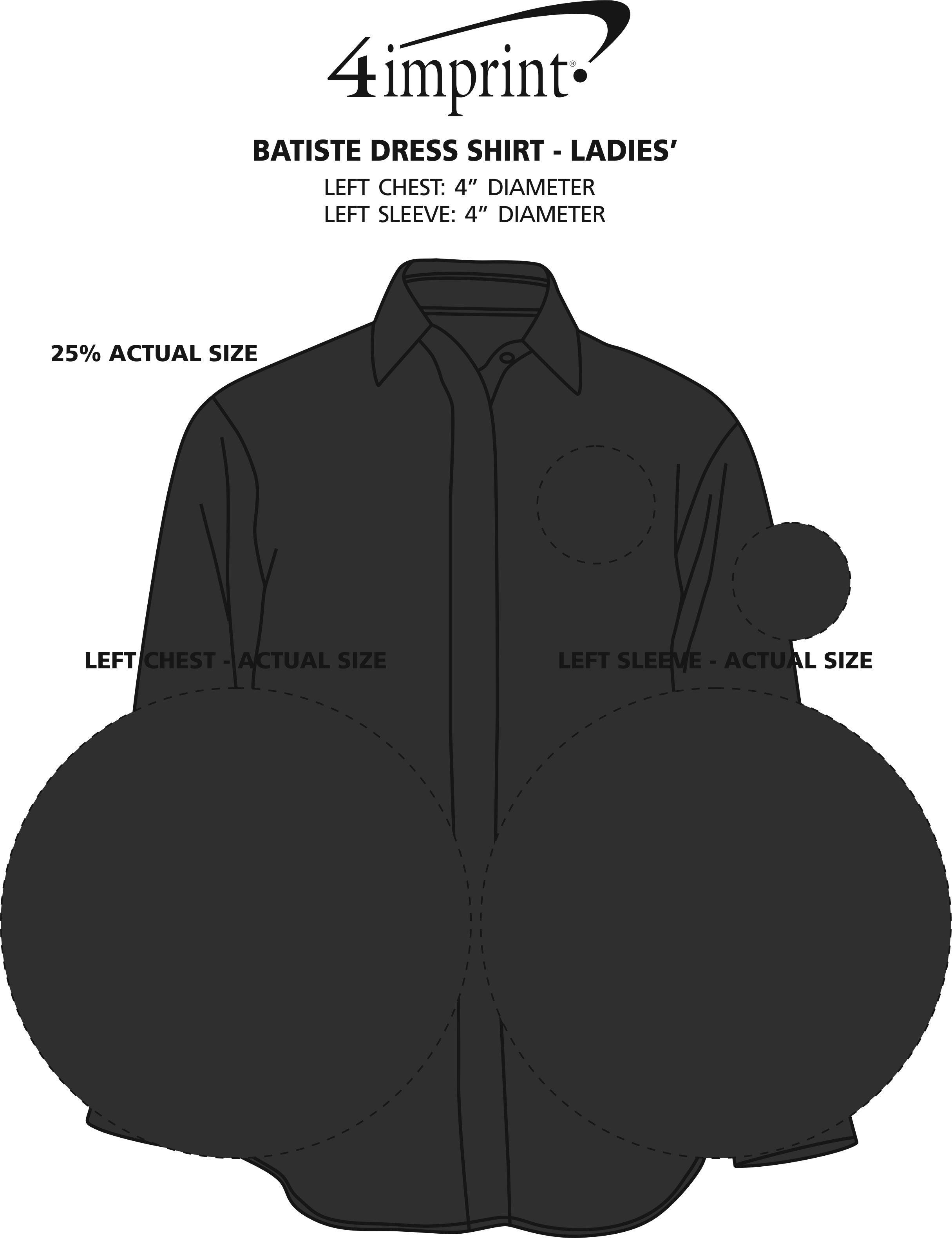 Imprint Area of Batiste Dress Shirt - Ladies'