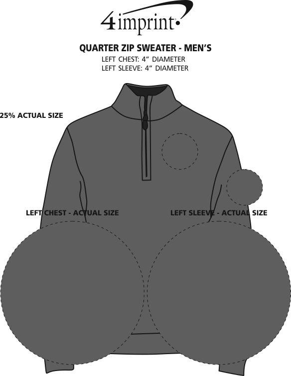 Imprint Area of 1/4-Zip Sweater - Men's - 24 hr