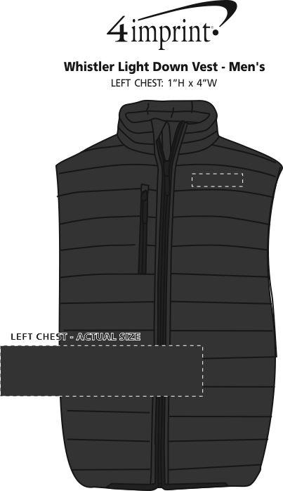 Imprint Area of Whistler Light Down Vest - Men's