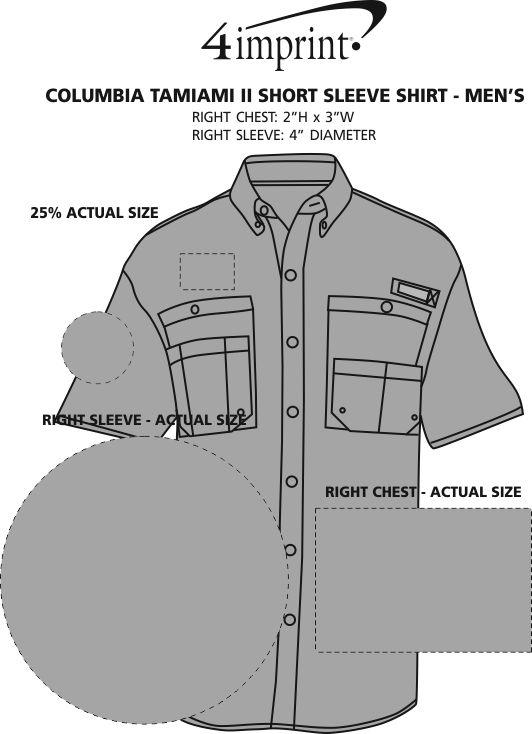 Imprint Area of Columbia Tamiami II Short Sleeve Shirt - Men's