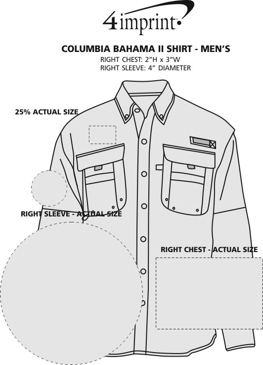 Imprint Area of Columbia Bahama II Shirt - Men's