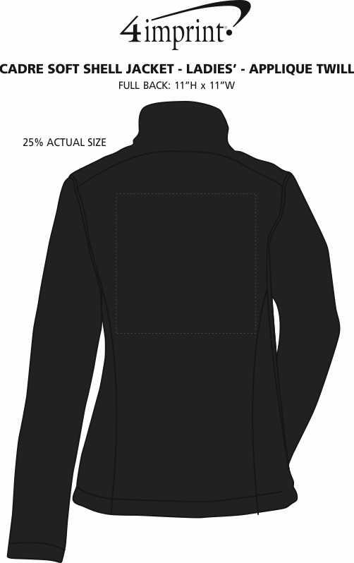 Imprint Area of Crossland Soft Shell Jacket - Ladies' - Applique Twill