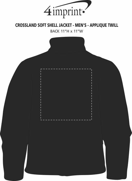 Imprint Area of Crossland Soft Shell Jacket - Men's - Applique Twill