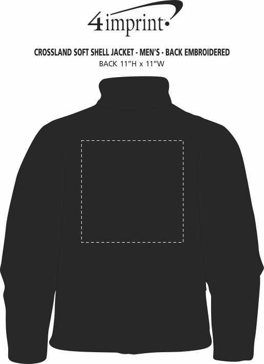 Imprint Area of Crossland Soft Shell Jacket - Men's - Back Embroidered
