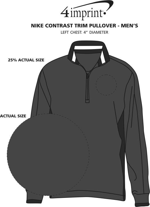 Imprint Area of Nike Contrast Trim Pullover - Men's