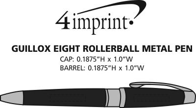 Imprint Area of Guillox Eight Rollerball Metal Pen