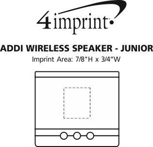 Imprint Area of Addi Wireless Speaker - Junior