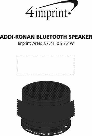 Imprint Area of Addi-Ronan Wireless Speaker