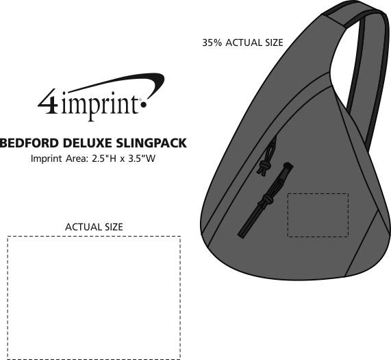 Imprint Area of Bedford Deluxe Slingpack