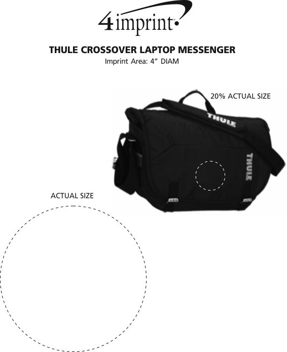 Imprint Area of Thule Crossover Laptop Messenger