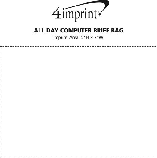 Imprint Area of All Day Computer Brief Bag