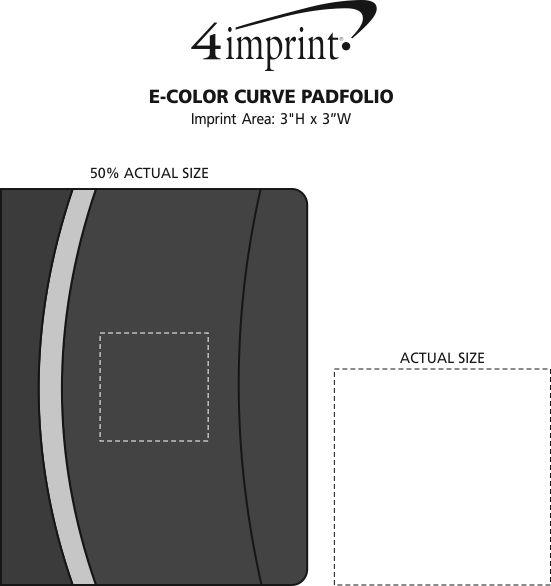 Imprint Area of E-Color Curve Padfolio