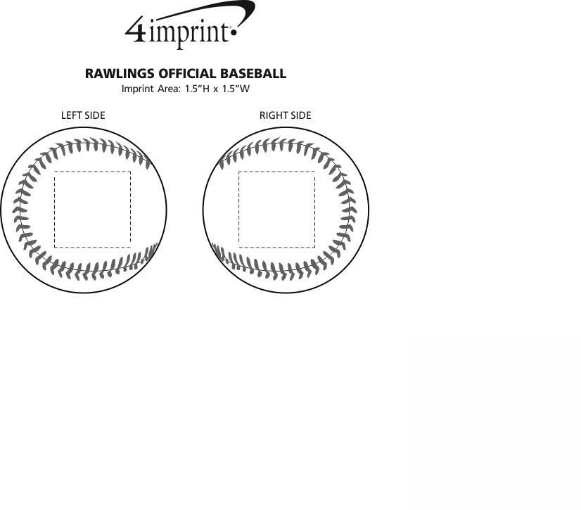 Imprint Area of Rawlings Official Baseball