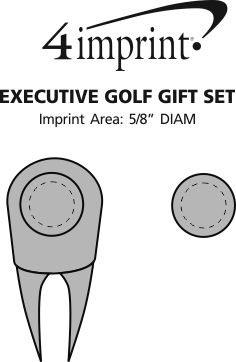 Imprint Area of Executive Golf Gift Set