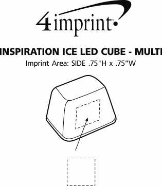Imprint Area of Inspiration Ice LED Cube - Multi