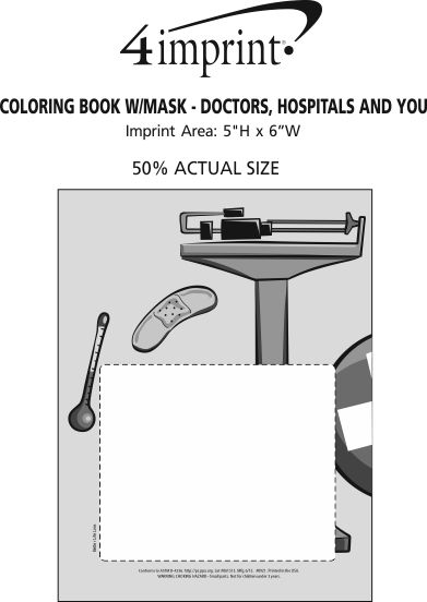 Imprint Area of Coloring Book with Mask - Doctors, Hospitals and You