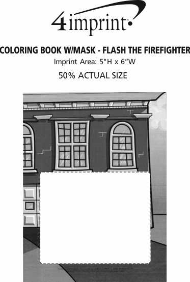Imprint Area of Coloring Book with Mask - Flash the Firefighter