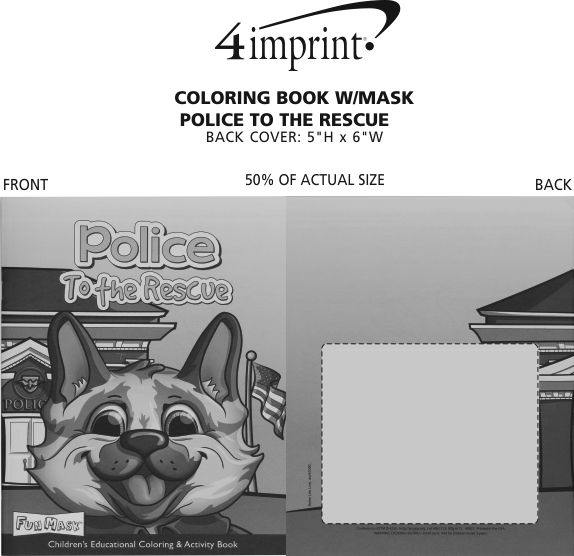 Imprint Area of Coloring Book with Mask - Police to the Rescue