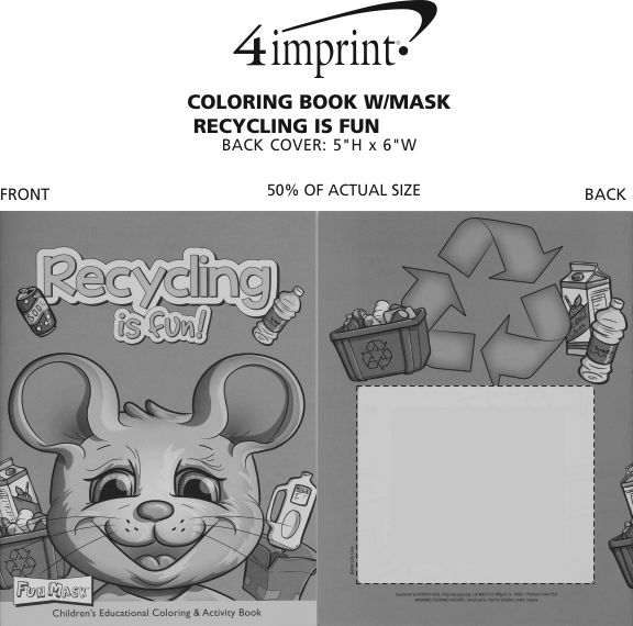 Imprint Area of Coloring Book with Mask - Recycling is Fun
